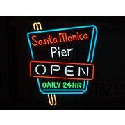 ネオンサイン【SANTA MONICA PIER -OPEN-】サンタモニカピア オープン