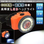 ◆COB型+砲弾型搭載!高輝度LEDヘッドライト