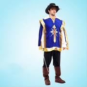 激安☆仮装★ダンス衣装★ハロウィン★cosplay★騎士★ナイト★帽子+シャツ+ズボン