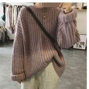 【秋冬新作】ファッションセーター♪グリーン/アンズ/パープル3色展開◆