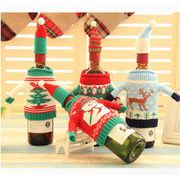 2017冬 雑貨 飾り付け ワインカバー シャンパンカバー 毛糸 靴下 クリスマス 装飾