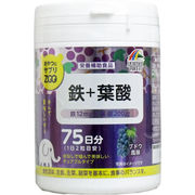 ※おやつにサプリZOO 鉄+葉酸 75日分 150粒入