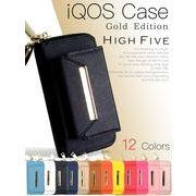 HIGH FIVE ゴールドメタルタイプ サフィアーノレザーアイコスケース iQOSケース 12色