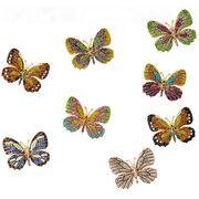 2017ピンブローチ 蝶々 全8色 手作り バタフライ リアル ハンドメイド 動物