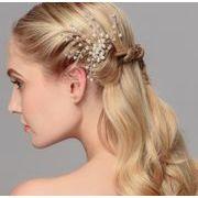 可愛い真珠パール付きウェディング ヘアアクセサリー - ヘアピン ヘアアクセサリー ピン留め   全1色
