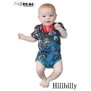 FAUX REAL Infant Hillbilly Romper  13473