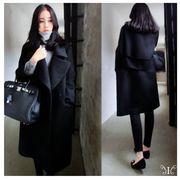 【即納661532】大きいサイズ ☆ 秋冬新作 韓国ファッション チェスターコート ☆F