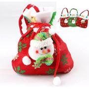 ラッピング/ クリスマスモチーフ付不織布 かわいい巾着バッグ/ クリパ 手土産に◎