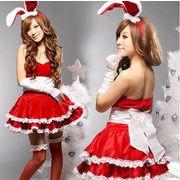 ♪♪クリスマス服★誘惑制服★3色展開 レディース セクッシー うさぎ耳付き仮装 コスチューム/コスプレ