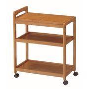 【直送可】木製キッチンワゴン 天板2分割式 KWB590BR