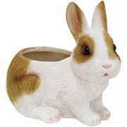 丸和貿易 置物 チアフルフレンズ ウサギのプランター S