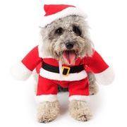 クリスマス用品 サンタクロース コスプレ コスチューム 変装 ペット用品 防寒 ペットウェア