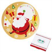 サンタ・ケーキ皿1P /クリスマス お皿 イベント ギフト ノベルティ