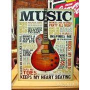 アメリカンブリキ看板 Music/ミュージック 音楽での励起