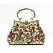 2WAY★エレガントなビーズ刺繍フラワー柄手提げバッグ ba520  /  7色あります