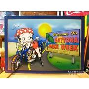 アメリカンブリキ看板 ベティ・ブープ デイトナバイク