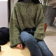 【即納】ゆったりセーター/ニット/トップス/レディース/大きいサイズv-k083-1677【2017秋冬】