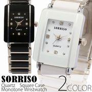 正規品SORRISOソリッソ シチズンミヨタムーブ 上品長方形ケース ラインストーン SRHI8S レディース腕時計