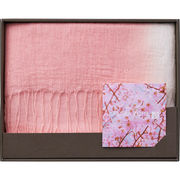 桜染 綿麻かすみ織ストール B4014588