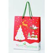 クリスマスペーパーバッグ(大) /クリスマス ペーパーバッグ 店舗 包装資材 イベント