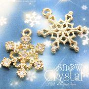 """★本ロジウム♪新入荷★L&A original charm★雪の結晶チャーム★煌めくK16GP★""""snow crystal""""3"""