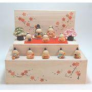 ★ひな祭りを飾る★ 陶製の雛人形 【花木箱 雛段飾り】