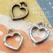 """★新掲載★L&A Original Parts★K16GP&本ロジウム&金古美★ハートチャーム♪""""petit open heart"""""""