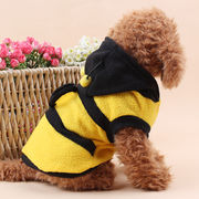 可愛い新品蜂変身 ペット服 犬服棉 シヤツ