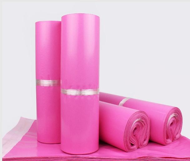 ピンク色の宅配袋★ビジネス事務部門ランキング入り★桃色宅配袋 梱包用袋テープ付