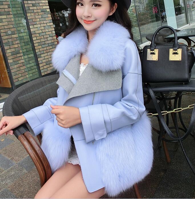 韓国風ファーコート レディースファーコート