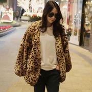 コート モコモコ ゆったり レオパード柄 ファイクファー 韓国風 ファッション 全2色 #29739