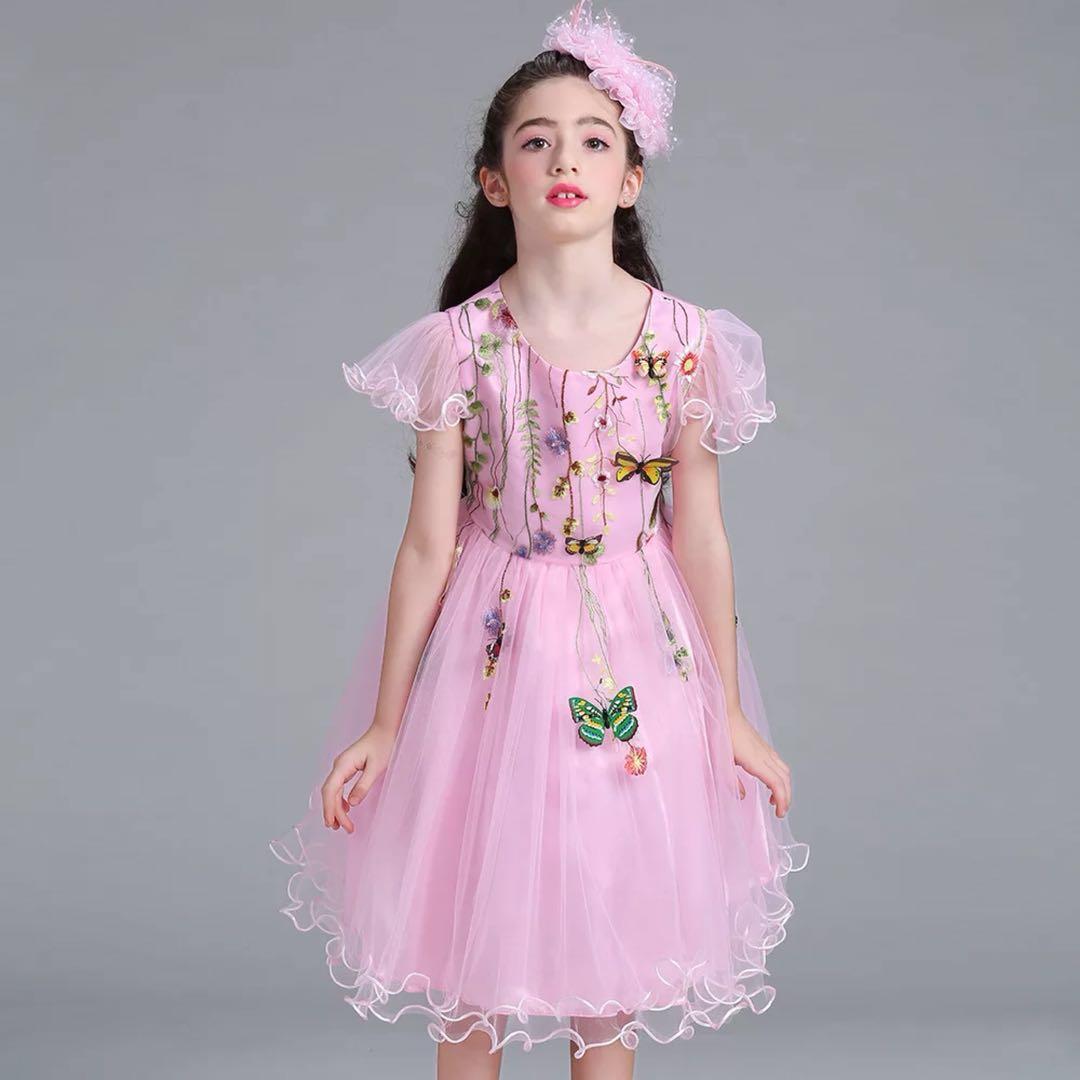bce8728d52148 子供ドレス フォーマル キッズ 女の子 ジュニア 子供服 ワンピース 花柄 蝶 ピンク アパレル 有限会社 エイチ・エム・ティ