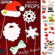 サンタやトナカイに♪ クリスマスフォトプロップス【パーティ雑貨/撮影小物】