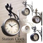 【壁掛時計/両面時計】新色シルバー入荷 ステーションクロック ボースサイド S♪