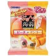 ぷるんと蒟蒻ゼリーパウチ ピーチ+マンゴー