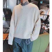 秋冬メンズセーター 無地セーター カジュアル シンプル♪全4色