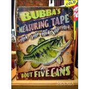 アメリカンブリキ看板 フィッシング 5缶の大きさ