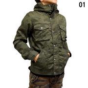 【2016秋冬】ツイル M-65タイプ ボリュームネック ジャケット