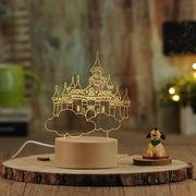 テーブルスタンド ランプ 個性定制プレゼント 天空の城