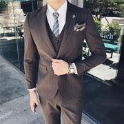 スーツ メンズ ビジネススーツ メンズスーツ 3点セット 紳士服 スーツフォーマル メンズファッション 長袖