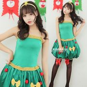 【即日出荷】緑 サンタコスチューム クリスマスツリー コスプレ衣装【9236】
