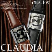 人気モデル!! クォーツ スクウェアー メンズウォッチ-CLAUDIA- 腕時計  CLA-1051