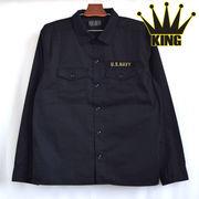 大きいサイズ【2016春夏】T/Cツイル 刺繍入り ミリタリー シャツジャケット