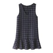 Rinaシリーズ 秋冬 新しいデザイン 女性服 韓国風 襟 アンティーク調 グリッド 気
