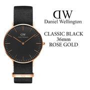 ダニエルウェリントン DANIEL WELLINGTON 腕時計 Classic Black 36mm ローズゴールド NATOベルト