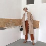 秋服 新しいデザイン 女性服 韓国風 ルース 中長デザイン ひもあり 長袖  コート 学