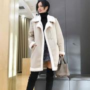 冬 新しいデザイン 女性服 ルース ふわふわ 手厚い 暖かい スエード レザー 毛レザー