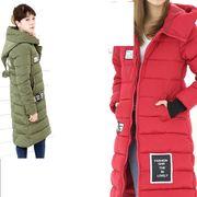 ミリタリーアウター  風中綿ロングコート   軽い暖かい中綿コート  ladyモッズコート  ダウンコート