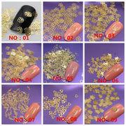 大容量50枚 薄型ネイルメタルパーツ NO.01‐19 封入 さくら/リボン/動物/お花/ダイヤモンド/蝶/ハート