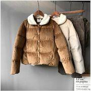 レディースアウター 2色 カーディガン 中綿コート ジャケット ショート丈 人気 着痩せ ファッション